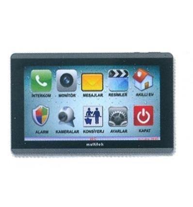"Multitek IP 10"" TFT LCD Dokunmatik IP İnterkom Daire Monitörü"