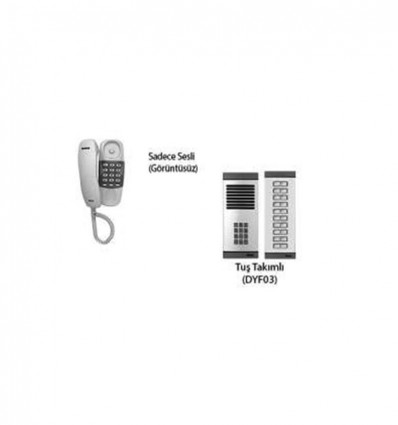 Multitek APT160 Sadece Sesli Diafon+DYF03 Daire 1