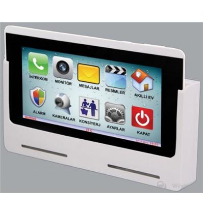 VIP70 IP İnterkom Daire Monitörü Ve Akıllı Ev Alarm Özellikli Duvar Aparatı